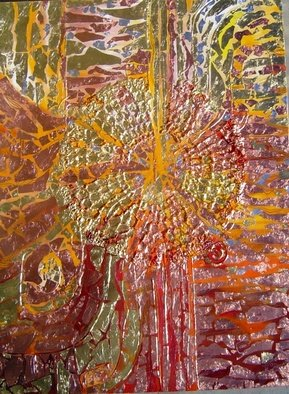 Oksana Davyda; Fire, 2008, Original Painting Oil, 30 x 40 inches. Artwork description: 241  Oil on canvas, gold leaf ...