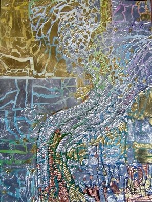 Oksana Davyda; Water, 2008, Original Painting Oil, 30 x 40 inches. Artwork description: 241  Oil on canvas, gold leaf ...