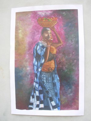 Olaoluwa Smith; African Pride, 2006, Original Painting Oil, 37 x 46 inches.