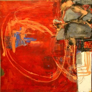 Olga Bukowska; Red Colours, 2014, Original Painting Oil, 39.4 x 39.4 inches. Artwork description: 241   abstract ...