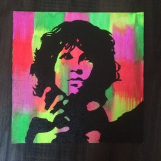 Pooja Shah; Commissioned Jim Morrison, 2014, Original Painting Acrylic, 8 x 8 inches. Artwork description: 241