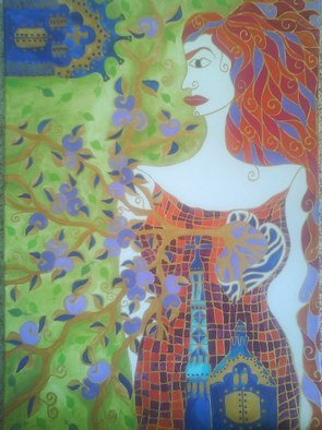 Mocanu Monica; Woman, 2010, Original Painting Acrylic, 50 x 70 cm.