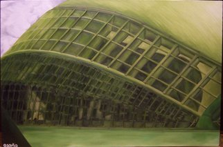 D. K. Osorio; Ciencia, 2009, Original Painting Oil, 91 x 61 cm. Artwork description: 241   El Museu de les Ciencies Principe Felipe ( Science Museum) , Valencia, Spain  ...
