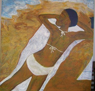 Pacha Osman; Basking1, 2006, Original Painting Acrylic, 48 x 48 inches. Artwork description: 241  PAINTING PAINTED IN BALI ...