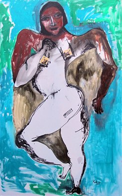Padma Prasad; Forever, 2011, Original Painting Oil, 30 x 48 inches. Artwork description: 241   Woman figure   ...
