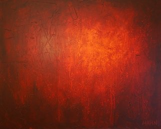 Andy Hahn; Abstract 027, 2006, Original Painting Acrylic, 50 x 40 inches. Artwork description: 241  Modern abstract red painting, large wall art, contemporary painting, modern art, Andy Hahn ...