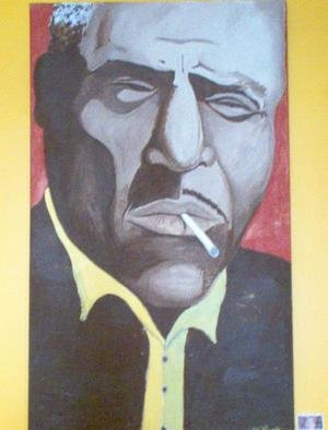 John Reynolds; Howlin Wolf, 2005, Original Painting Acrylic, 36 x 60 inches.