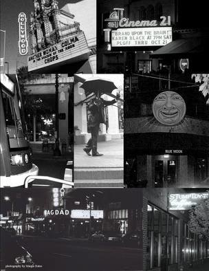 Margie Bates; Portland Collage, 2008, Original Digital Art, 8 x 10 inches. Artwork description: 241  Black and white digital photography made into collage of beautiful Portland, Oregon. ...