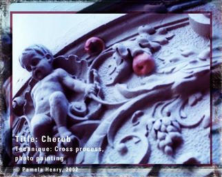 Pamela Henry; Cherub, 2002, Original Photography Other, 20 x 16 inches. Artwork description: 241 Cross process, photo painting. Signed, archival photo lustre giclee print....
