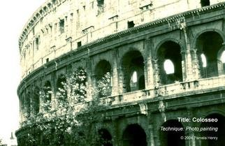 Pamela Henry; Colosseo, 2004, Original Photography Other, 20 x 13 inches. Artwork description: 241 Photo painting. Signed, archival photo lustre giclee print....