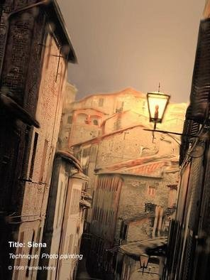 Pamela Henry; Siena, 1998, Original Photography Other, 10.5 x 14 inches. Artwork description: 241 Photo painting. A side street in beautiful Siena. Signed, archival photo lustre giclee print....