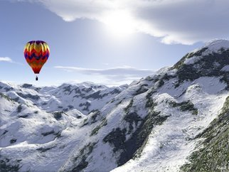 John Pangia; Summit, 2011, Original Digital Art, 24 x 18 inches. Artwork description: 241  mountains landscape snow ballon ...