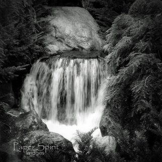 Erik Roman; Waterfall, 2011, Original Photography Black and White, 8 x 8 inches. Artwork description: 241  Waterfall  ...
