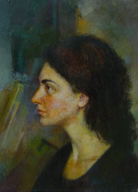 Parnaos Surabischwili; Matiko, 1989, Original Painting Oil, 16 x 20 inches. Artwork description: 241  The portrait of a girl I love. ...