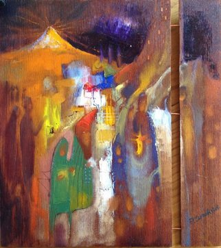 Parnaos Surabischwili; People Of Babylon, 2015, Original Painting Oil, 12 x 11 inches. Artwork description: 241     Oil painting on board    ...