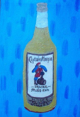Patrice Tullai; Bottle of Captain Morgans, 2009, Original Painting Oil,   inches. Artwork description: 241  Oil painting of a bottle of Captain Morgan Rum ...