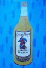 Artist: Patrice Tullai's, title: Bottle of Captain Morgans, 2009, Painting Oil