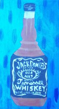 Artist: Patrice Tullai's, title: Bottle of Jack Daniels, 2009, Painting Oil