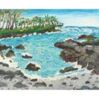 Patrice Tullai; Pahoehoe, 2008, Original Painting Oil, 20 x 16 inches. Artwork description: 241  Oil on canvas painting of Big Island of Hawaii ...