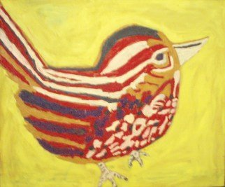 Patrice Tullai; Red Sparrow, 2007, Original Painting Oil, 30 x 25 inches. Artwork description: 241  Oil on canvas painting of a red sparrow.Inspired by the book of that title by Bukowski. ...