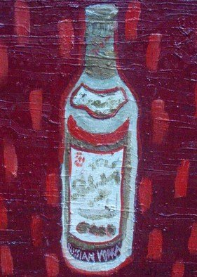 Patrice Tullai; Russian Vodka, 2009, Original Painting Oil,   inches. Artwork description: 241   Oil painting of a bottle of Vodka  ...