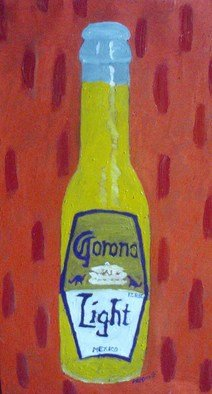 Patrice Tullai; corona light, 2008, Original Painting Oil, 17 x 31 inches. Artwork description: 241   oil on canvas painting of bottle of corona light.    ...