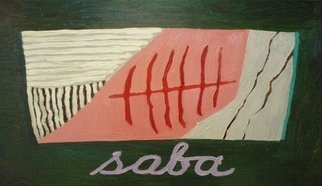 Patrice Tullai; saba, 2008, Original Painting Oil, 21 x 15 inches. Artwork description: 241  oil on wood painting of saba sushi ...
