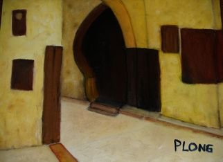 Patrice Longchamps; Morocco, 2007, Original Painting Oil, 16 x 20 inches. Artwork description: 241  House in Fes Morocco ...