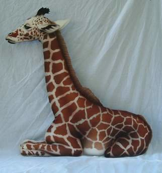 Patrick Bulger; Baby Giraffe, 2006, Original Other,   inches. Artwork description: 241  Airbrush on wood, 48