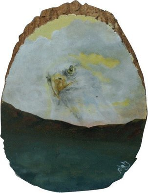 Patty Hoskin; Eagle 1, 2009, Original Painting Acrylic, 10 x 7 inches.