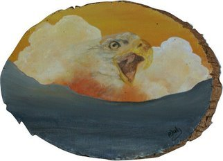 Patty Hoskin; Eagle 2, 2009, Original Painting Acrylic, 10 x 7 inches.