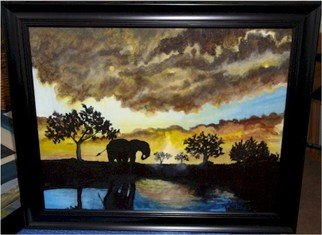 Patty Hoskin; The Waterhole, 2010, Original Painting Acrylic,   inches.