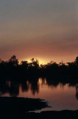 Paula Durbin; Zambian Sunset, 2001, Original Photography Color, 11 x 14 inches. Artwork description: 241 Zambian sunset. A Fresson print.May be printed in other sizes and processes.  ...