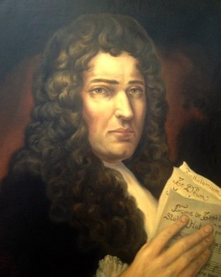Paul Armesto; Marc Antoine Charpentier, 2016, Original Painting Oil, 20 x 22 inches. Artwork description: 241 Unique portrait of French baroque composer Marc- Antoine Charpentier1643- 1704 . ...