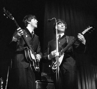 Paul Berriff, The Beatles Unified, 1963, Original Photography Black and White, size_width{The_Beatles_Unified-1459943141.jpg} X 32 inches