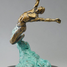 Paul Orzech, , , Original Sculpture Bronze, size_width{Celebration-1564354383.jpg} X 11 inches