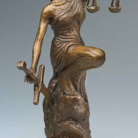 Paul Orzech, , , Original Sculpture Bronze, size_width{Lady_Justice-1161729959.jpg} X 12 inches