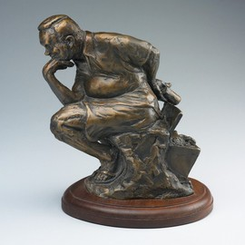Paul Orzech, , , Original Sculpture Bronze, size_width{Maryland_Thinker-1161730204.jpg} X 8 inches