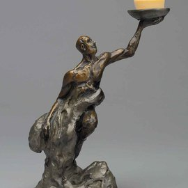 Paul Orzech, , , Original Sculpture Bronze, size_width{Prometheus-1161729429.jpg} X 9 inches