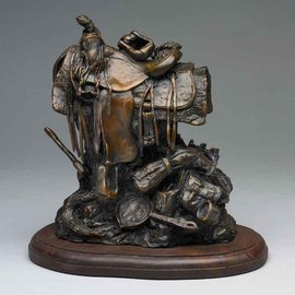 Paul Orzech, , , Original Sculpture Bronze, size_width{Saddle-1244522074.jpg} X 10 inches