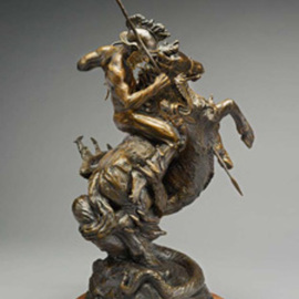Paul Orzech, , , Original Sculpture Bronze, size_width{Saint_George_and_the_Dragon-1244500467.jpg} X 24 inches