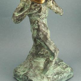 Paul Orzech, , , Original Sculpture Bronze, size_width{The_Golden_Gift-1396107952.jpg} X 9.2 inches