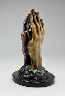 Paul Orzech; Touch, 2008, Original Sculpture Bronze, 4 x 11.5 inches. Artwork description: 241  Touch was commissioned by a patron as