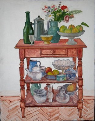 Pavel Tyryshkin; Still Life On A Bookcase, 2020, Original Painting Oil, 80 x 65 cm. Artwork description: 241 still life on the bookcase...