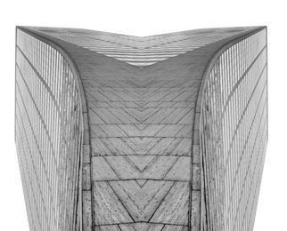 Peter C. Brandt; Grace X2, 2010, Original Photography Other, 36 x 24 inches. Artwork description: 241  Mirrored image, butterflied, abstract, architectural, photography, New York City, WR Grace building, 42nd Street and sixth Avenue, (c)2012PeterC. Brandt      ...