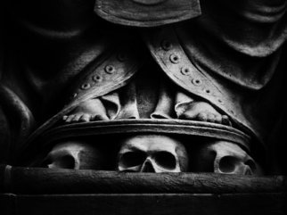 Peter C. Brandt; Skulls At Base, 2010, Original Photography Other, 36 x 24 inches. Artwork description: 241  architectural details, sculpture, skulls, abstract, architectural, graphic, photography, New York City(c)2012PeterC. Brandt,             ...