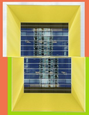 Peter C. Brandt; Tampa Museum Of Art, 2010, Original Photography Other,   inches. Artwork description: 241  abstract, architectural, photography, Tampa, Florida, Green and orange, Tampa Museum of Art, mirrored, butterflied, (c)2011PeterC. Brandt,...