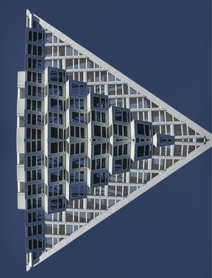 Peter C. Brandt; Big Condo Mirrored, 2019, Original Photography Color, 36 x 24 inches. Artwork description: 241 an image of the top of the VIA on 59th St and the HenryHudson Parkway. . . and then mirrored...
