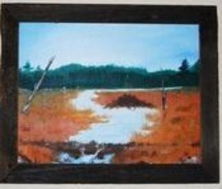 James Emerson; Beaver Flow, 2010, Original Painting Oil, 16 x 20 inches. Artwork description: 241   Far away beaver dam creating an ideal brook trout local, perfect for the cast fly.      ...