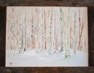 James Emerson; Beechs And Poplars, 2012, Original Painting Oil, 18 x 24 inches. Artwork description: 241       Winter in the forests of Maine   ...